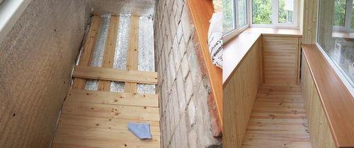 Деревянный настил на балкон своими руками 56