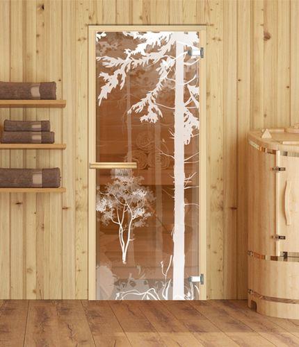 стеклянная дверь в парную стандартная дверь в парилку с