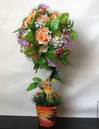 Топиарии из искусственных цветов: фото, как сделать своими руками, мастер класс, видео, топиарий из травы