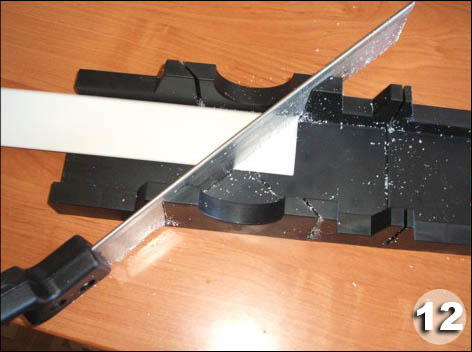 Как разрезать дверную коробку под 45 градусов