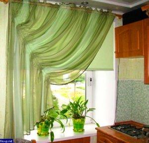 Дизайн штор своими руками для кухни 99