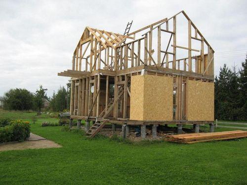 Как быстро построить каркасный дом своими руками 14